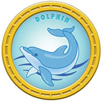 Dolphin Mascot MEDAL